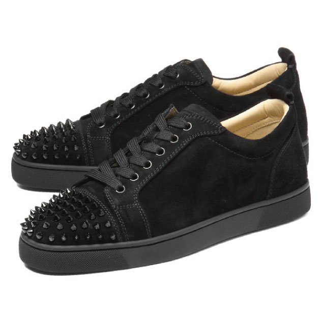 bb20bfc6688 1130575 クリスチャンルブタン Christian Louboutin shoes men CM53 sneakers LOUIS JUNIOR  SPIKES Lewis Junius pikes BLACK/BLACK black