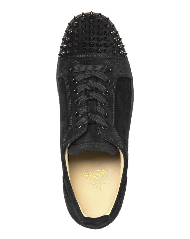 2055c13dc1c 1130575 クリスチャンルブタン Christian Louboutin shoes men CM53 sneakers LOUIS JUNIOR  SPIKES Lewis Junius pikes BLACK/BLACK black