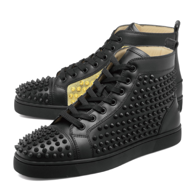 11fe813e8f15 1180206 クリスチャンルブタン Christian Louboutin shoes men CM6S sneakers higher  frequency elimination YANG LOUIS FLAT SPIKES Jan Lewis flat spikes ...
