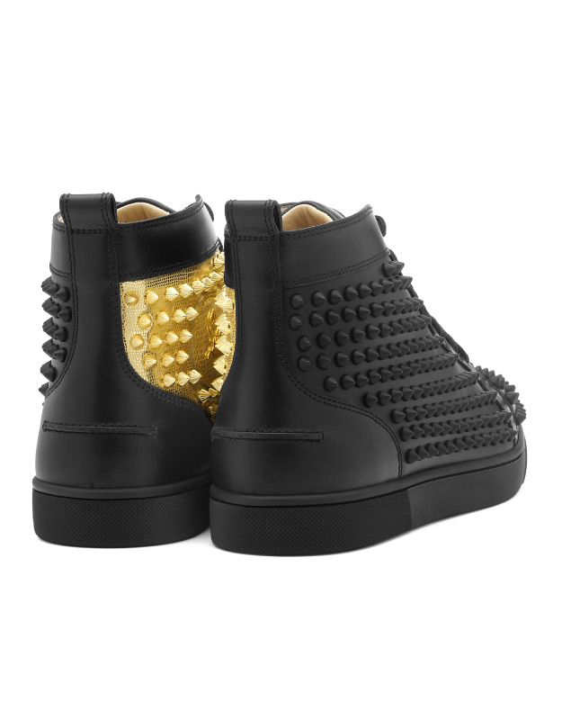 fc672a54e00 1180206 クリスチャンルブタン Christian Louboutin shoes men CM6S sneakers higher  frequency elimination YANG LOUIS FLAT SPIKES Jan Lewis flat spikes ...