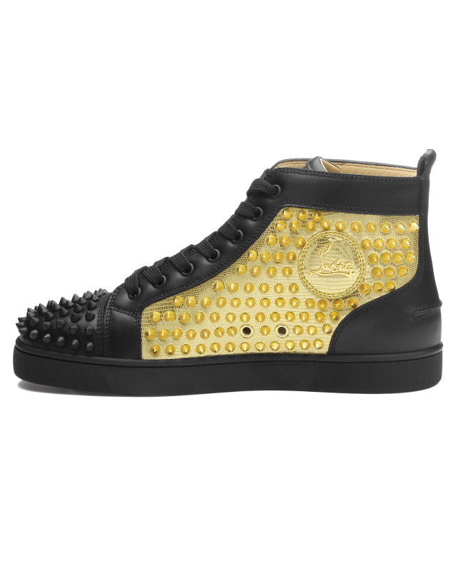 df73e26fab4c 1180206 クリスチャンルブタン Christian Louboutin shoes men CM6S sneakers higher  frequency elimination YANG LOUIS FLAT SPIKES Jan Lewis flat spikes ...