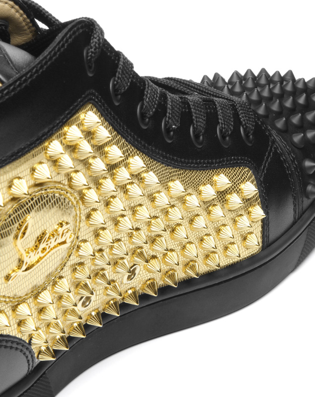 2334e15fbcf 1180206 クリスチャンルブタン Christian Louboutin shoes men CM6S sneakers higher  frequency elimination YANG LOUIS FLAT SPIKES Jan Lewis flat spikes ...