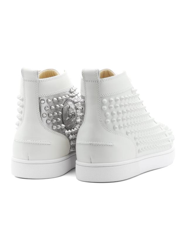 1180206 クリスチャンルブタン Christian Louboutin shoes men W083 sneakers higher  frequency elimination YANG LOUIS FLAT SPIKES Jan Lewis flat spikes ...
