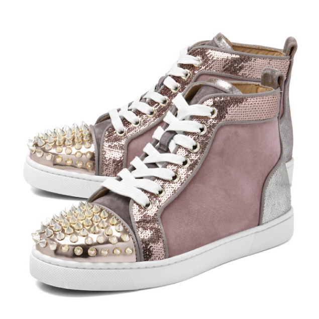 cb0cc63ae61c ... Christian Louboutin shoes Lady s 1180120 CMA3 sneakers higher frequency  elimination LOU SPIKES WOMAN FLAT Ruth Pike s woman flat VERSION MULTI pink