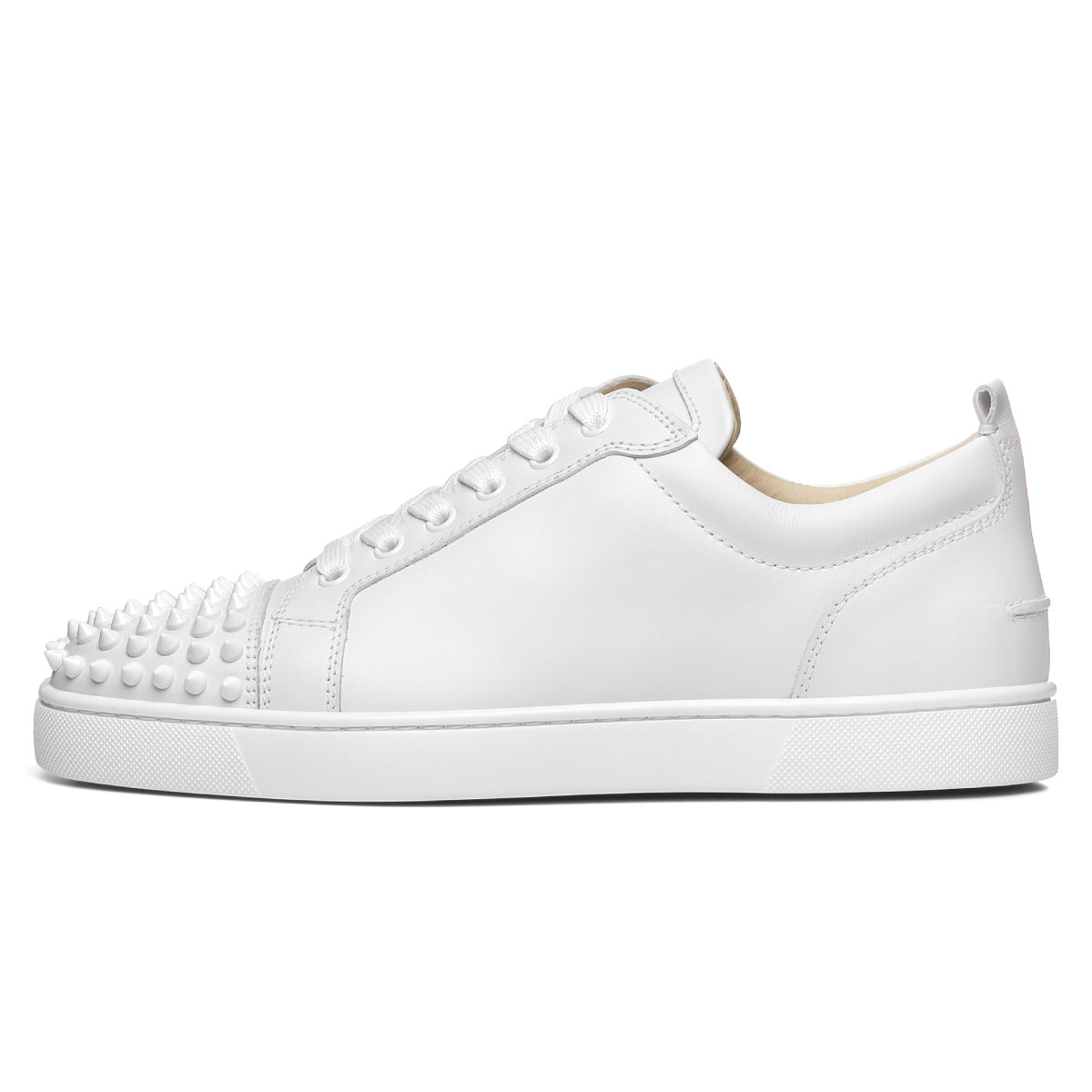 best website abf98 585fc 1130573 クリスチャンルブタン Christian Louboutin shoes men 3047 sneakers LOUIS JUNIOR  SPIKES FLAT Lewis Junius pike staple fiber rat WHITE/WHITE white