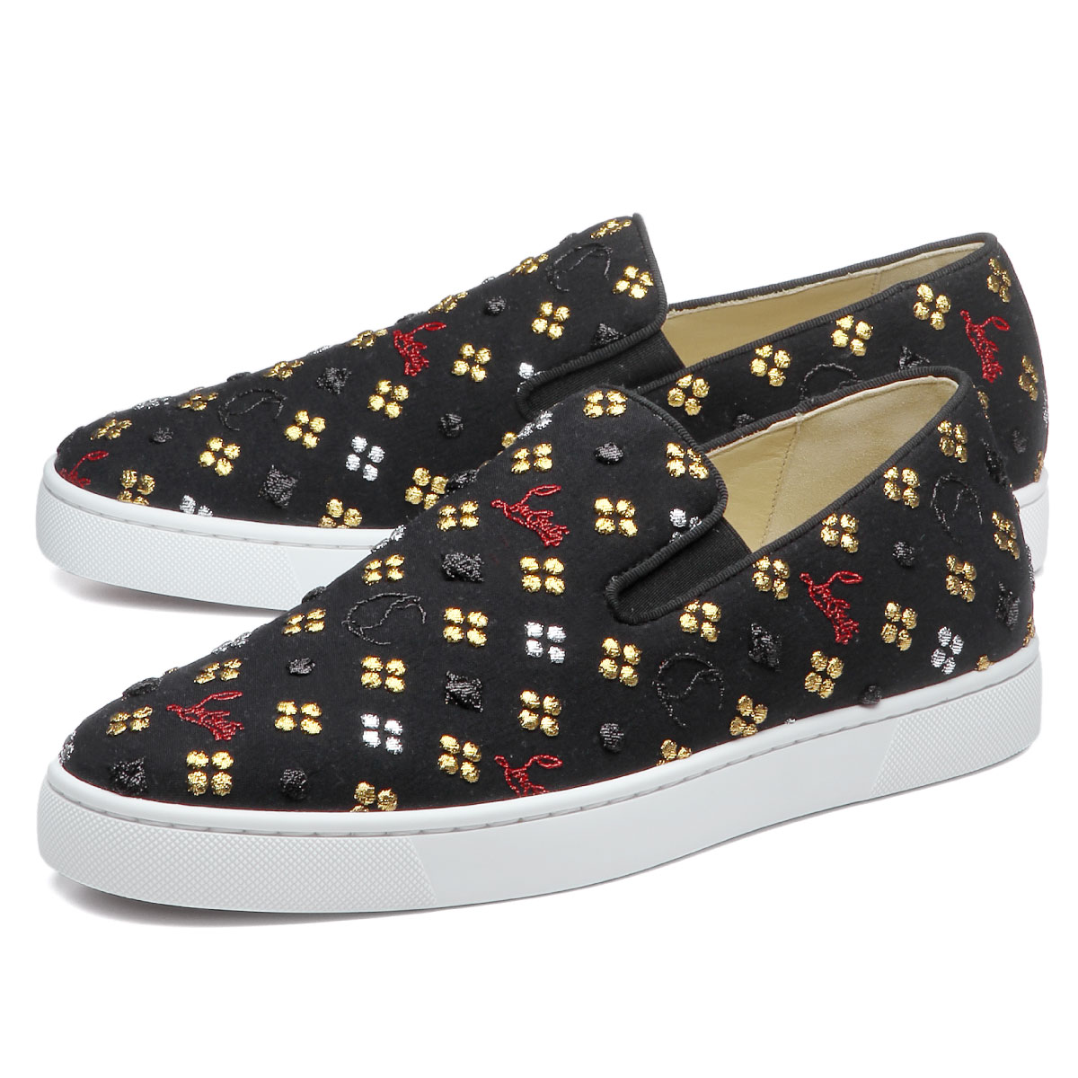 8949d0a92f98 importshopdouble  3180100 クリスチャンルブタン Christian Louboutin shoes men M024 slip -ons BOAT FLAT LOUBI IN THE SKY boat flat agate in the sky MULTI black ...