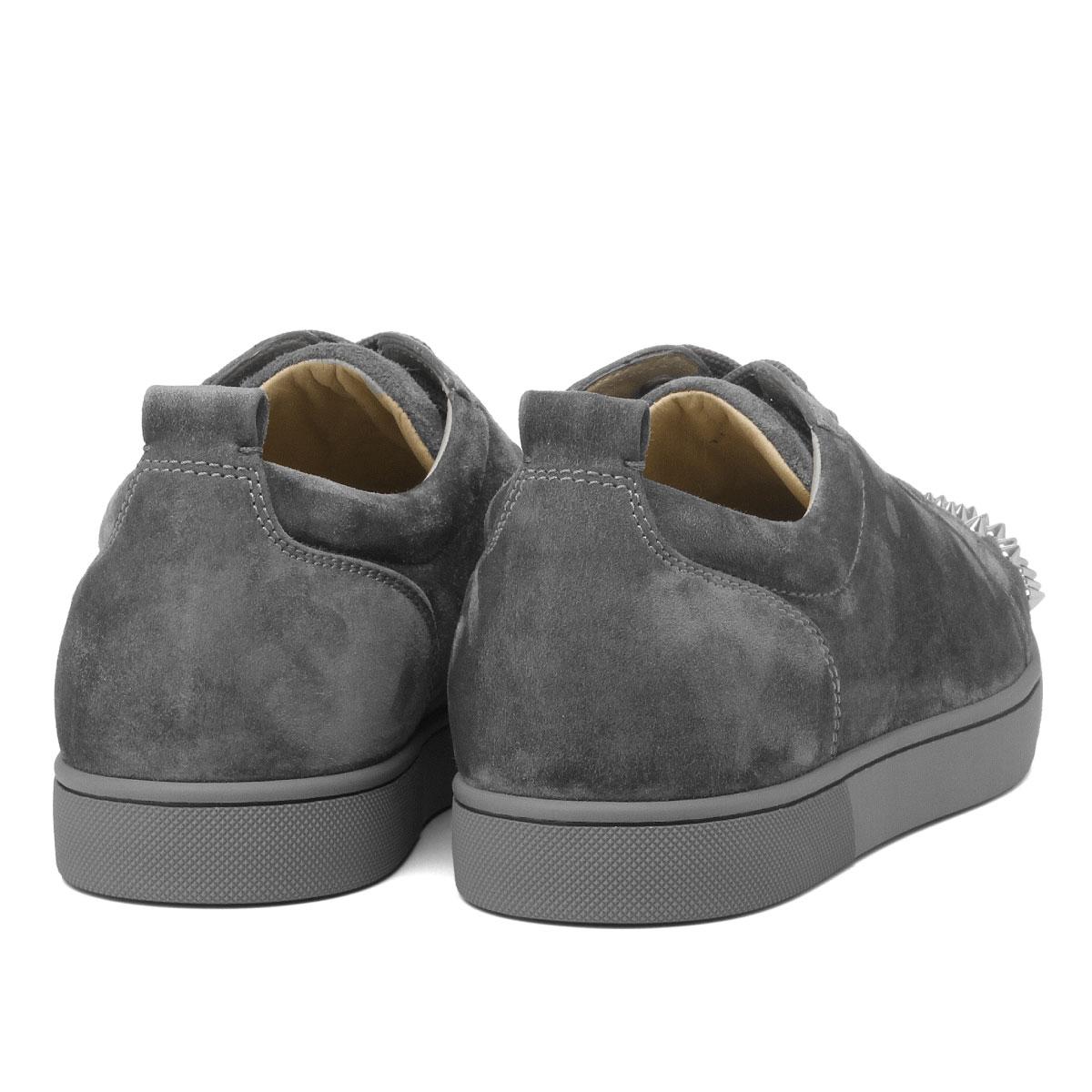 1180051 クリスチャンルブタン Christian Louboutin Shoes Men I208 Sneakers Louis Junior Spikes Flat Lewis Junius Pike Staple Fiber Rat Shadow Sv Gray