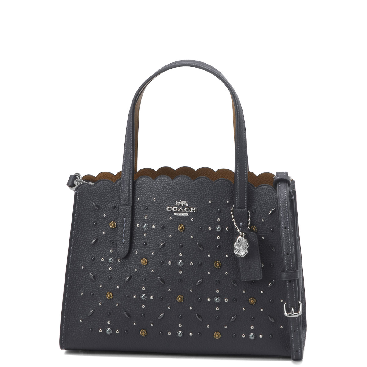 29528 coach COACH bag lady SVBHP shoulders handbag CHARLIE CARRYALL 28  Charlie carry oar 28 SV MIDNIGHT NAVY dark blue belonging to 71558ae8573dc