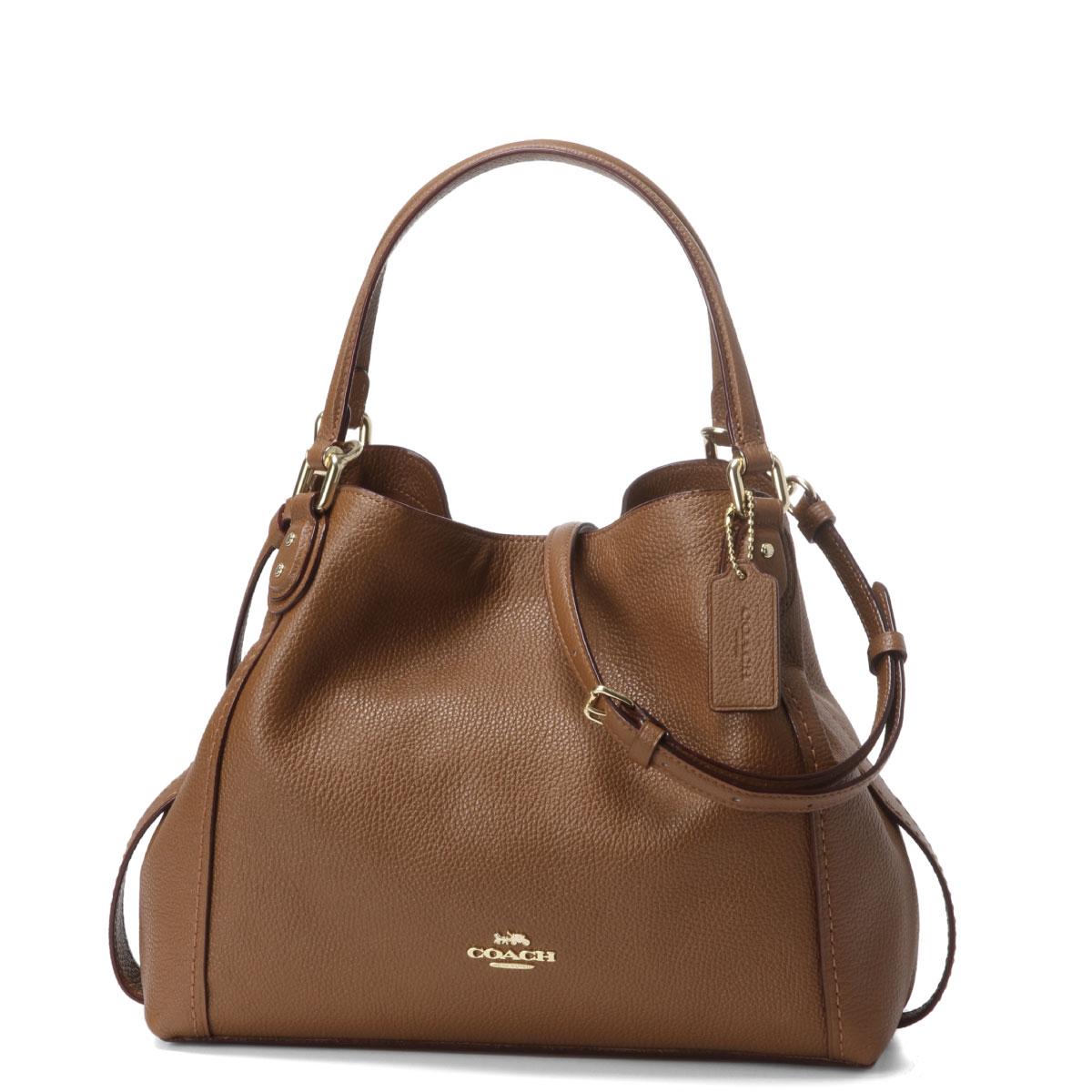 Lil4a Brown To Shoulders Lady Handbag Saddle Belonging Coach 28 57124 Bag Li1941 Edie Edy EHID2W9beY