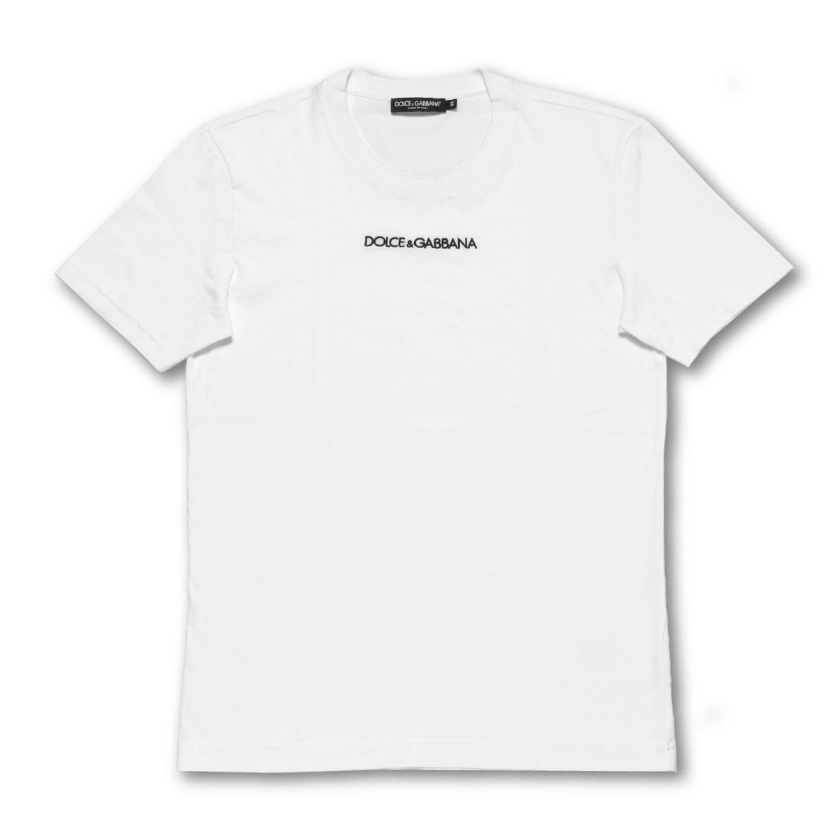ドルチェアンドガッバーナ DOLCE&GABBANA Tシャツ メンズ G8JM4Z FU7EQ W0800 半袖Tシャツ WHITE ホワイト
