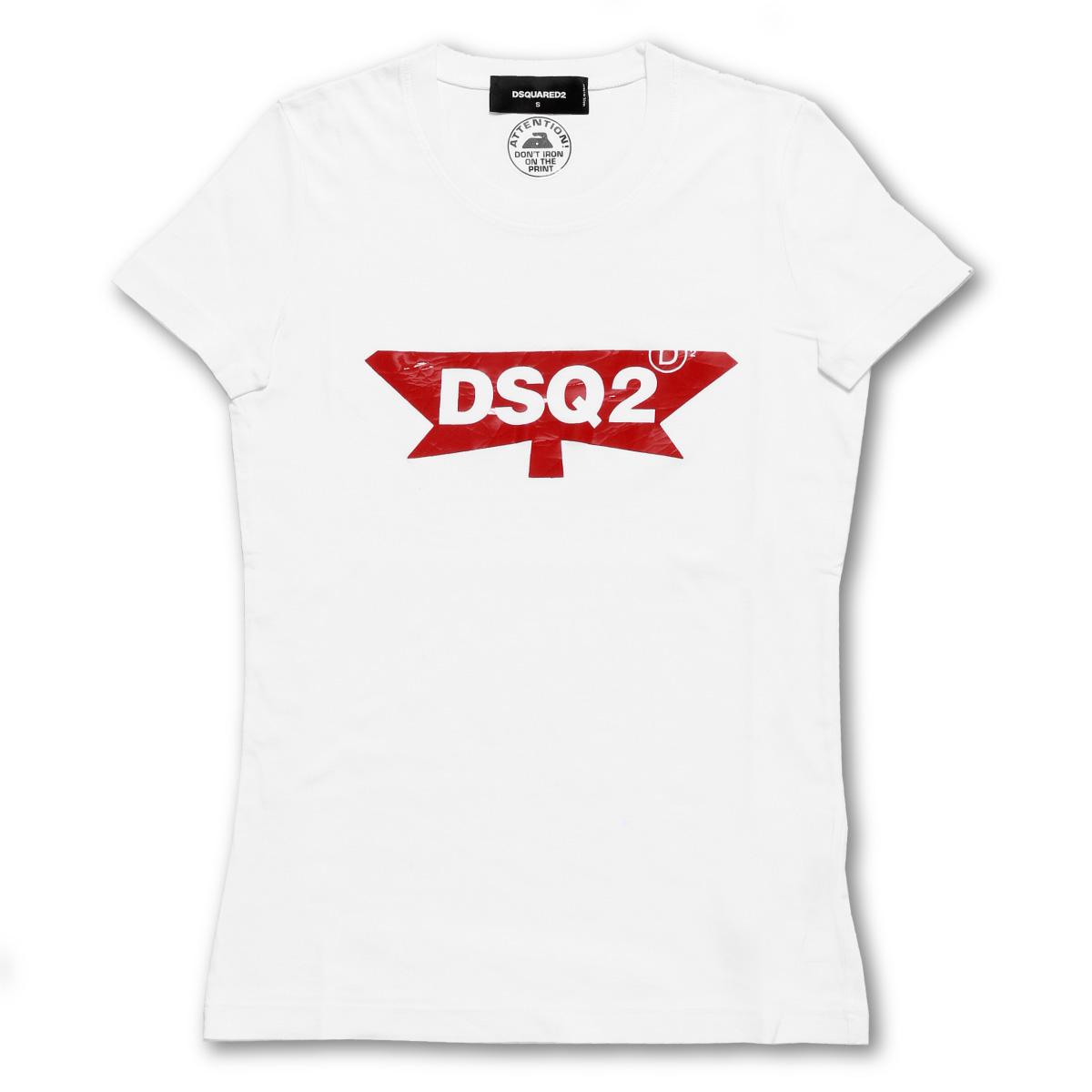 ディースクエアード DSQUARED 2 Tシャツ レディース S75GC0910 S22427 100 半袖Tシャツ WHITE ホワイト