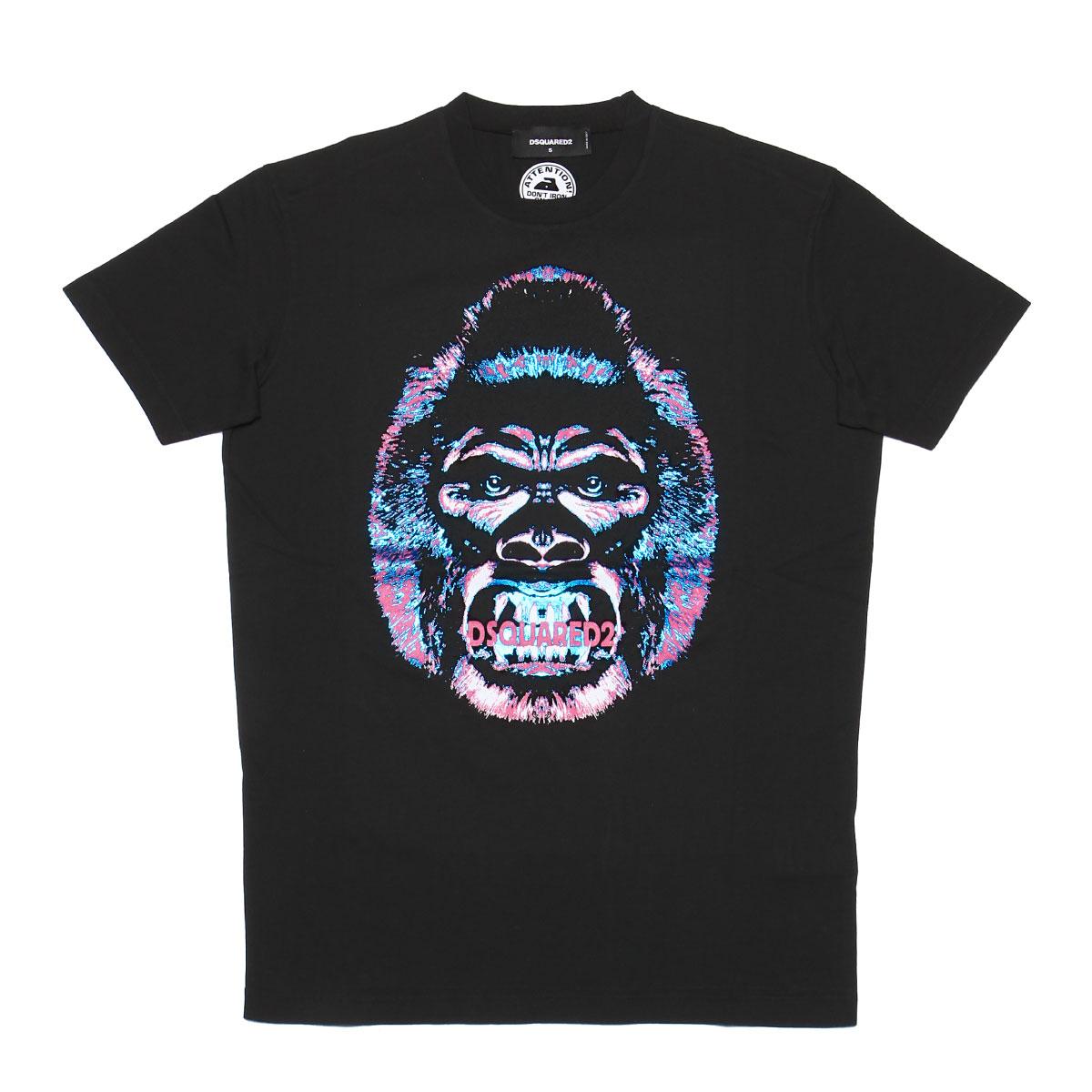 ディースクエアード DSQUARED 2 Tシャツ メンズ S71GD0629 S22427 900 半袖Tシャツ BLACK ブラック