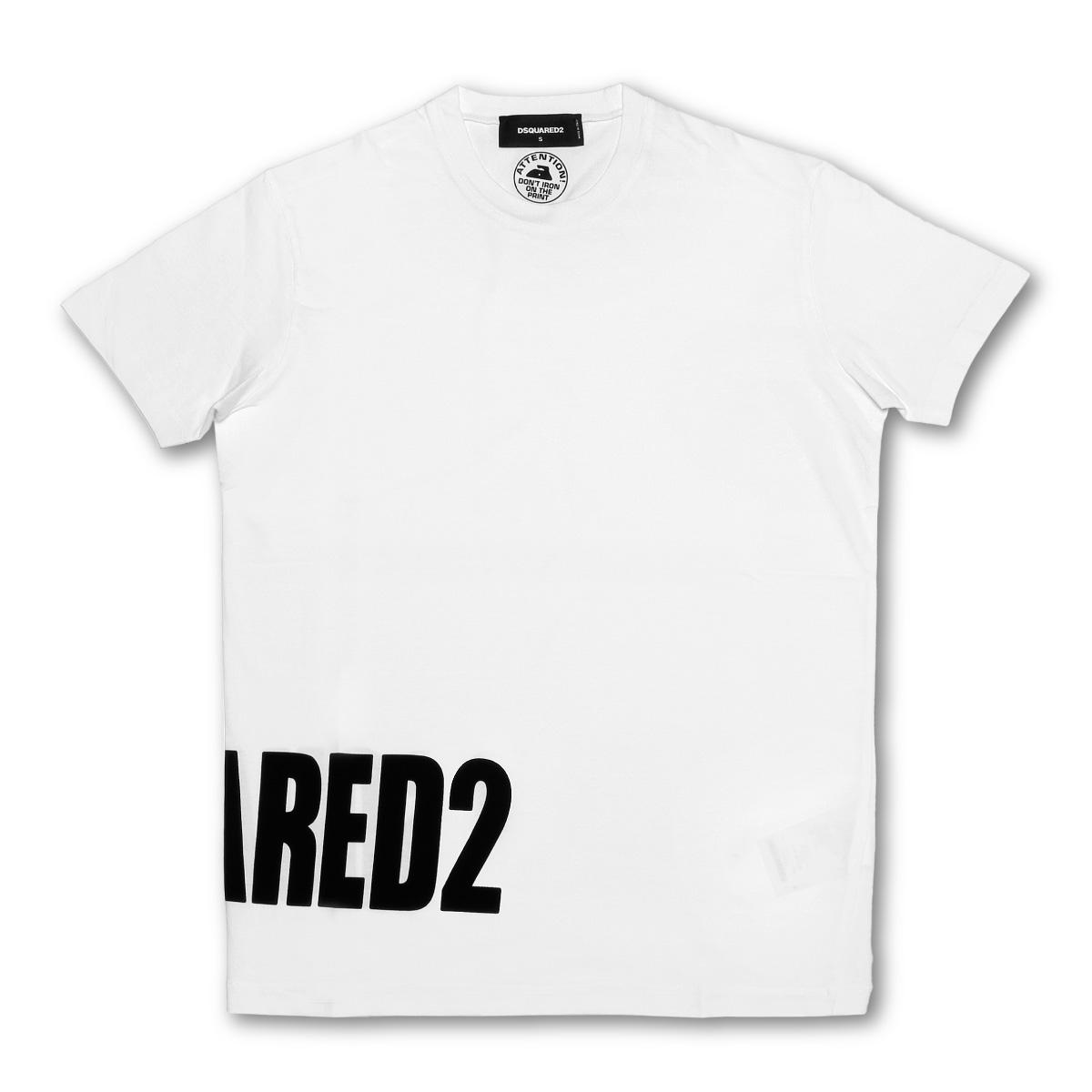 ディースクエアード DSQUARED 2 Tシャツ メンズ S74GD0463 S22427 100 半袖Tシャツ WHITE ホワイト