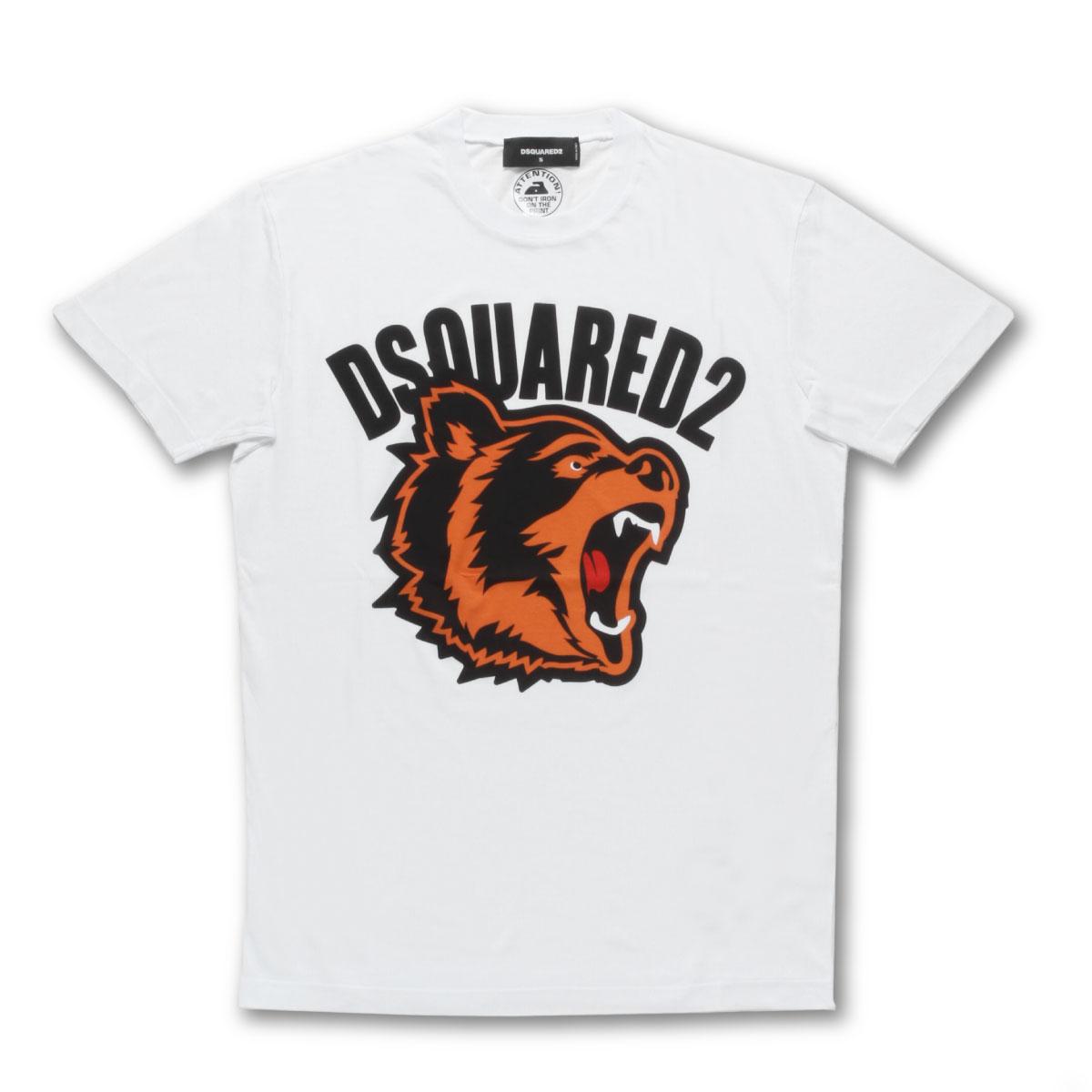 ディースクエアード DSQUARED 2 Tシャツ メンズ S74GD0584 S21600 100 半袖Tシャツ BIG BEAR ビッグ ベア WHITE ホワイト