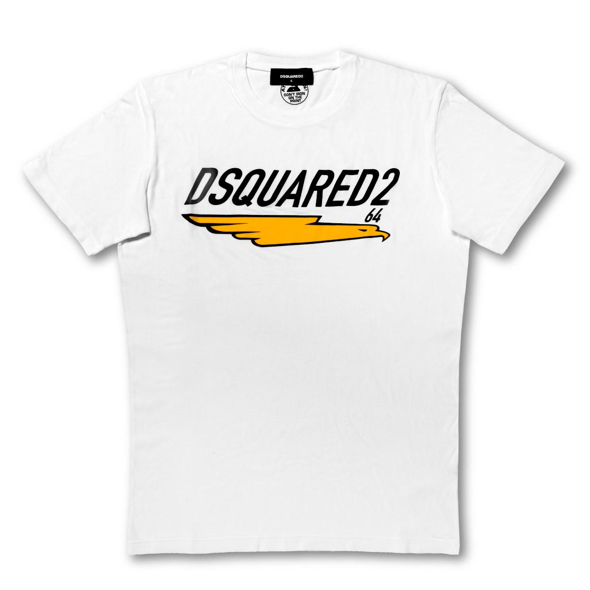 ディースクエアード DSQUARED 2 Tシャツ メンズ S74GD0687 S21600 100 半袖Tシャツ WHITE ホワイト
