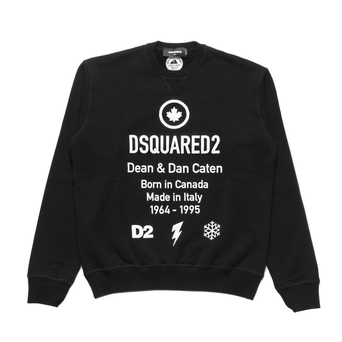 ディースクエアード DSQUARED 2 スウェット メンズ S74GU0425 S25042 900 長袖スウェット BLACK ブラック