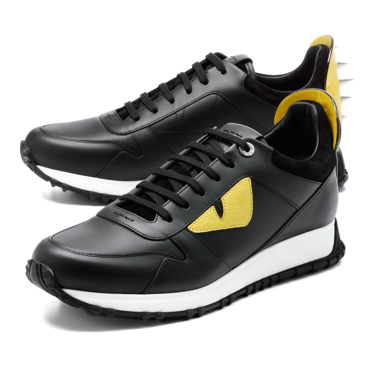 4c33d39a4acc importshopdouble  FENDI Fendi sneakers BLACK+FENDI GREY + YELLOW ...