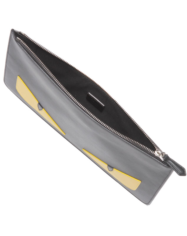 190cbb1f21dd Fendi FENDI bag men 7N0078 O73 F0WAD clutch bag NERO+GIALLO+PALLADIO black