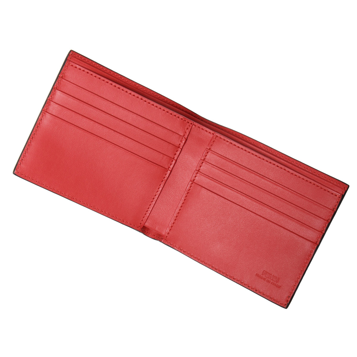 674f628caf7e フェンディFENDI財布メンズ7M0169O73F0U9T二つ折り財布BAGBUGSバッグバグズNERO+GIALLO+ROSSO