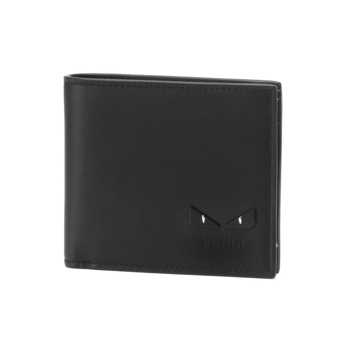 c16e9557 Fendi FENDI wallet men 7M0169 6OC F0GXN folio wallet NERO+PALLADIO black