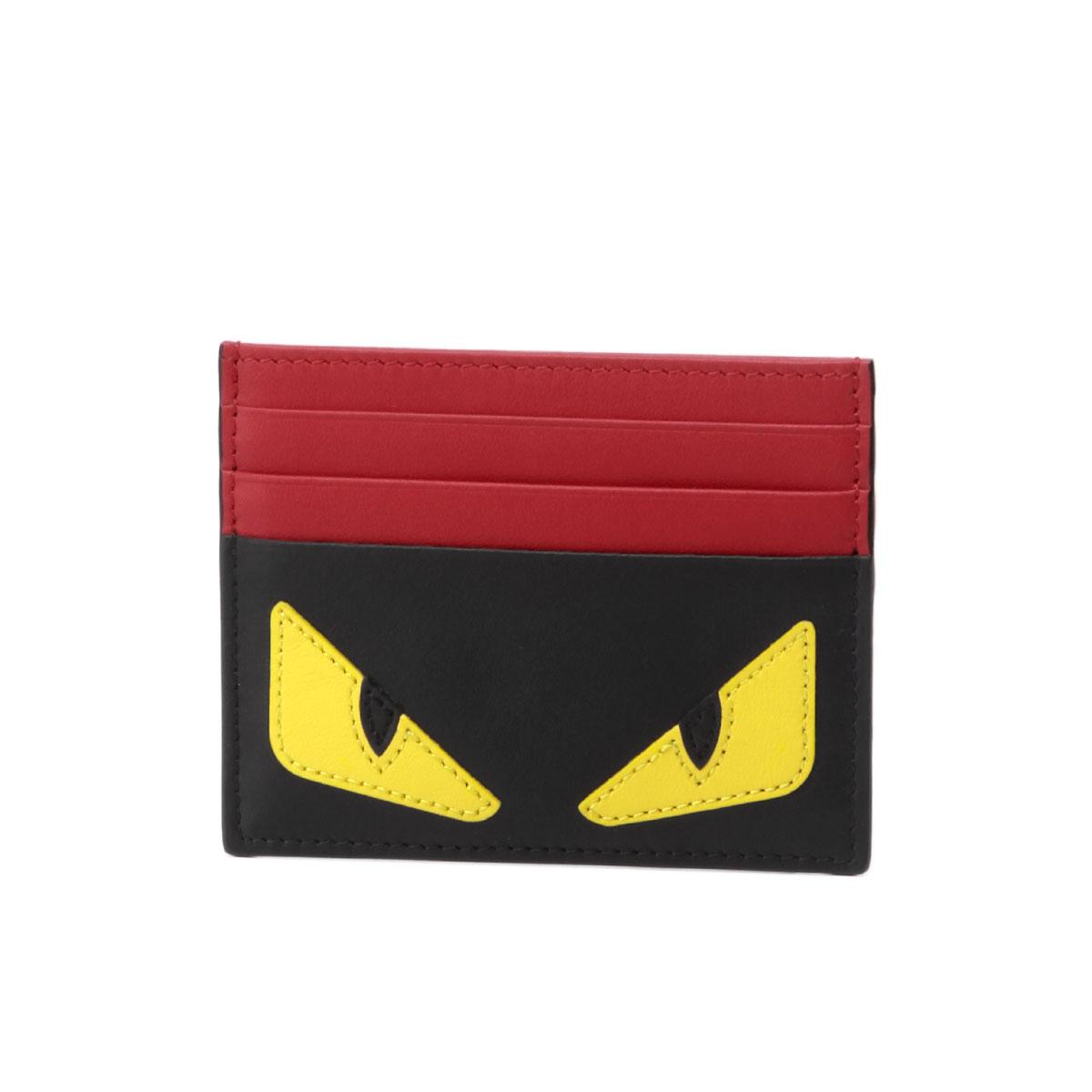 フェンディ FENDI カードケース メンズ 7M0164 O73 F0U9T BAG BUGS バッグ バグズ NERO+GIALLO+ROSSO ブラック/レッド