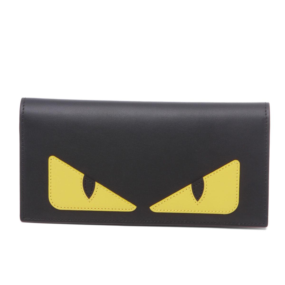 フェンディ FENDI 財布 メンズ 7M0244 O73 F0U9T 二つ折り長財布 BAG BUGS バッグ バグズ NERO+GIALLO+ROSSO ブラック