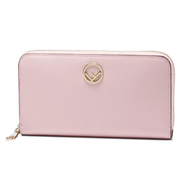 フェンディ FENDI 財布 レディース 8M0299 A18B F01KW ラウンドファスナー長財布 PEONIA+ORO SOFT ピンク