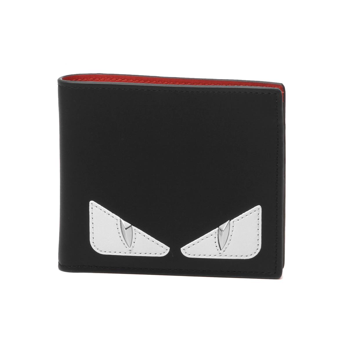 49558c6425eb フェンディFENDI財布メンズ7M0169A3DOF1387二つ折り財布BAGBUGSバッグバグズNERO+ROSSO+BCO
