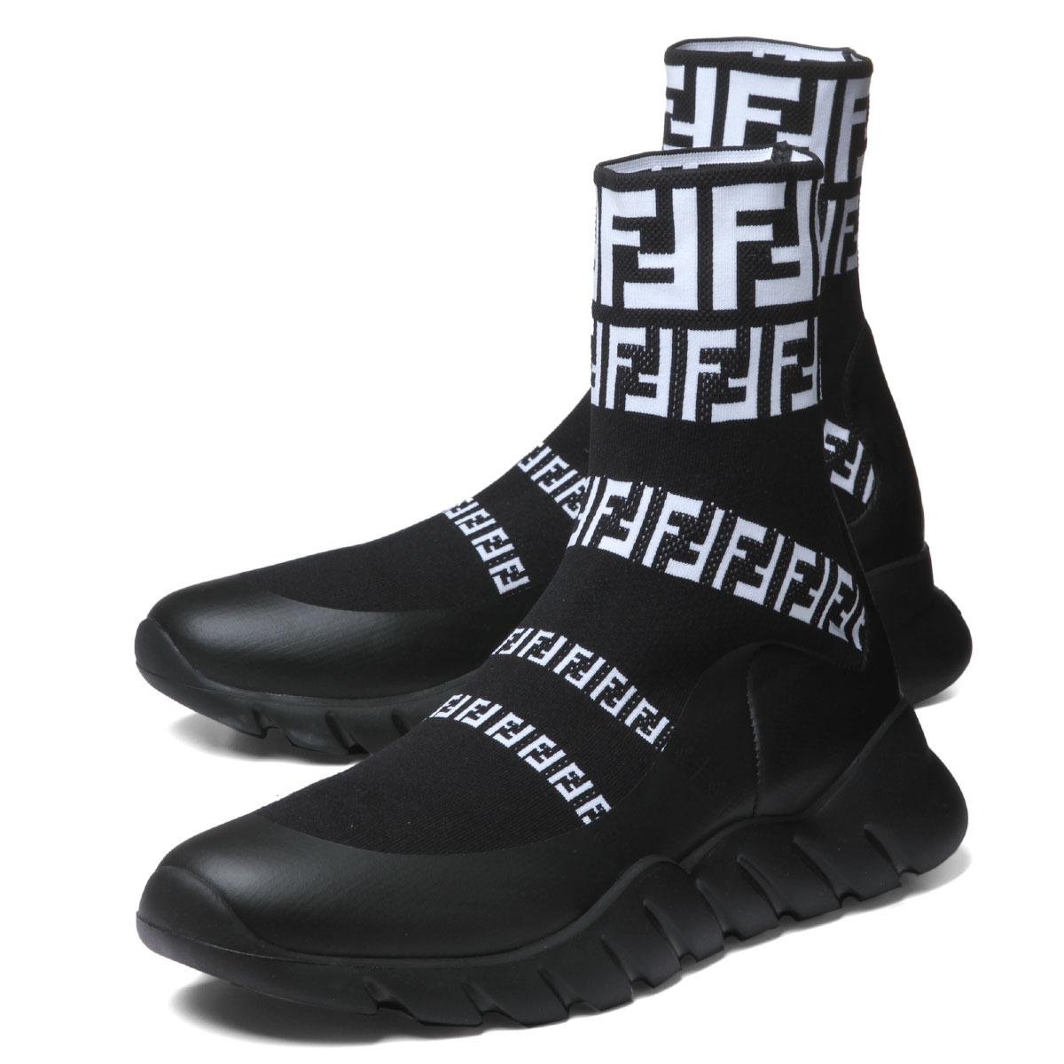 best authentic 50% price super quality Fendi FENDI shoes men 7E1163 A3XH F0Y68 sneakers higher frequency  elimination NERO BIANCO+NERO black