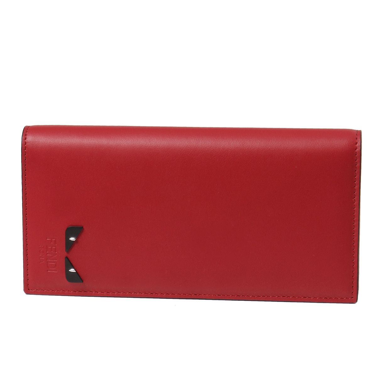 a902a6a3 Fendi FENDI wallet men 7M0186 A1W8 F08LP folio long wallet ROSSO+NERO+PALL  red