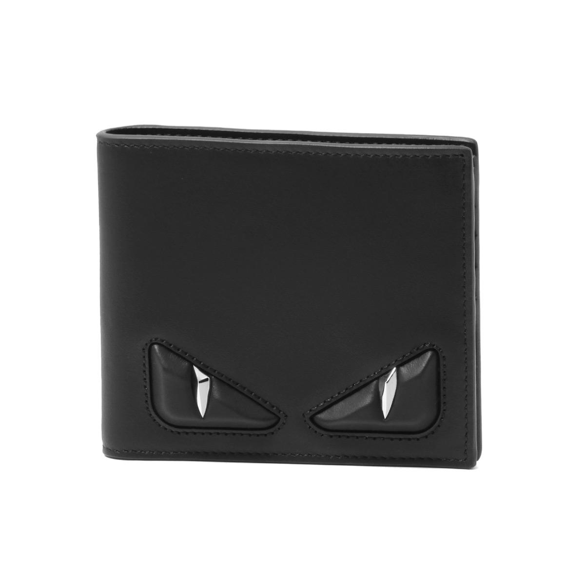 00c1772f Fendi FENDI wallet men 7M0169 O76 F0GXN folio wallet NERO+PALLADIO black