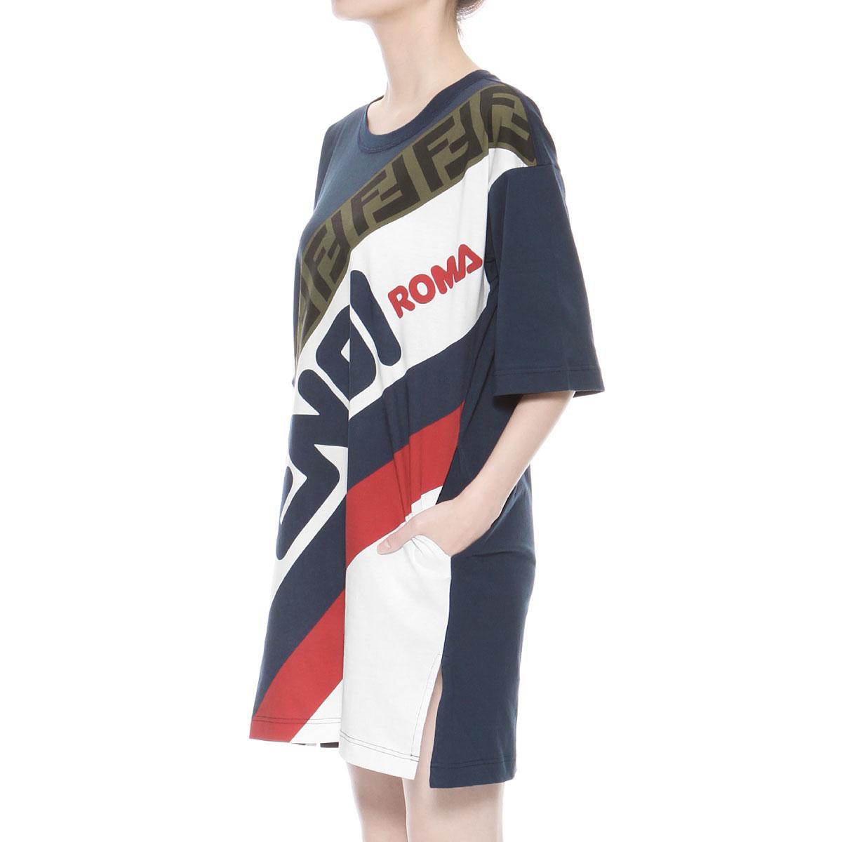 1a16f3e6ece7 importshopdouble  Fendi FENDI T-shirt Lady s FAF100 A6JQ F14PK short ...