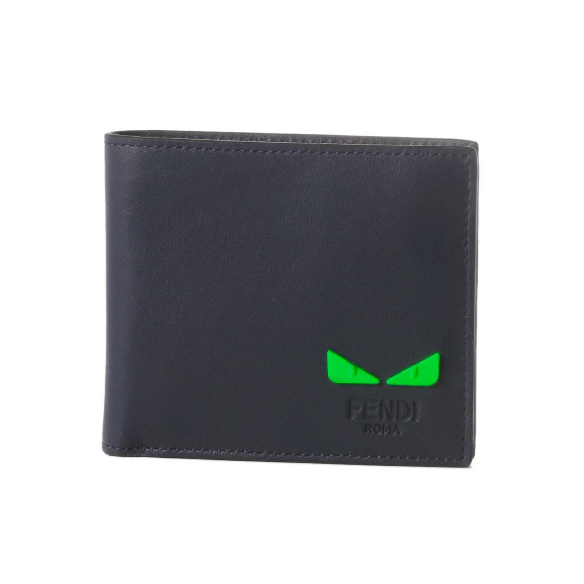 54afb7e4 Fendi FENDI wallet men 7M0266 A7TE F17H5 folio wallet BL.BERRY+VERDE FLU+P  dark blue