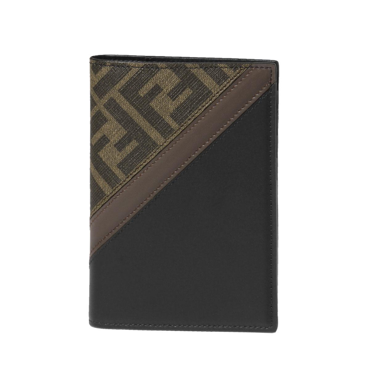 フェンディ FENDI パスポートケース メンズ 7M0282 A9XS F199B TAB+MORES+NR+P ブラウン