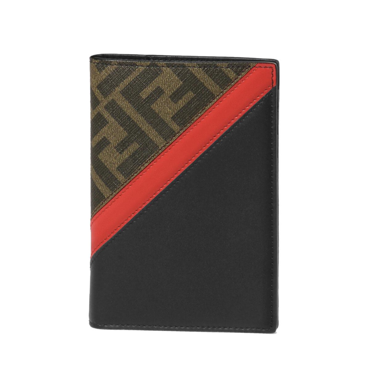 フェンディ FENDI パスポートケース メンズ 7M0282 A9XS F19P9 TAB+ROSSO+NR+P ブラウン