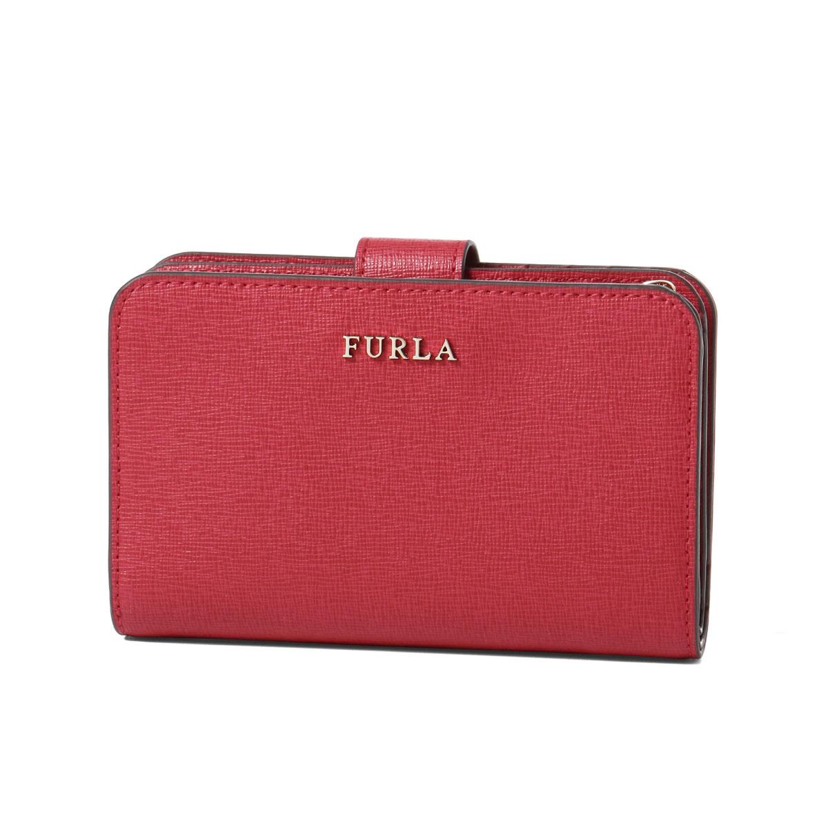 フルラ FURLA 財布 レディース 872837 PR85 B30 RUB 二つ折り財布 ミディアム BABYLON M ZIP AROUND バビロン RUBY レッド