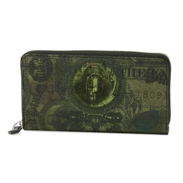 ジバンシー GIVENCHY 財布 メンズ BK06040123 960 ラウンドファスナー長財布 MULTICOLORED グリーン