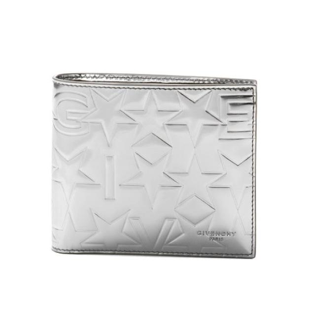 ジバンシー GIVENCHY 財布 メンズ BK06021129 040 二つ折り財布 SILVER シルバー