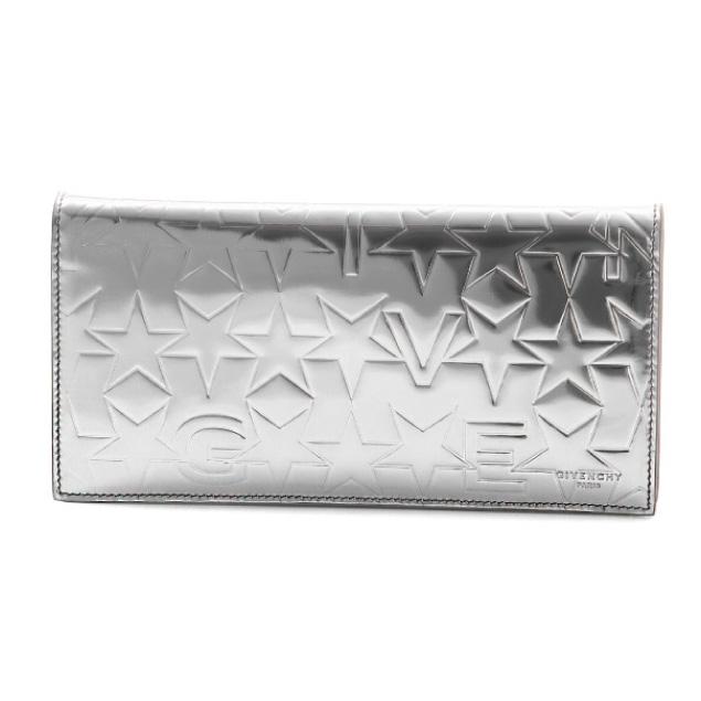 ジバンシー GIVENCHY 財布 メンズ BK06030129 040 二つ折り長財布 SILVER シルバー
