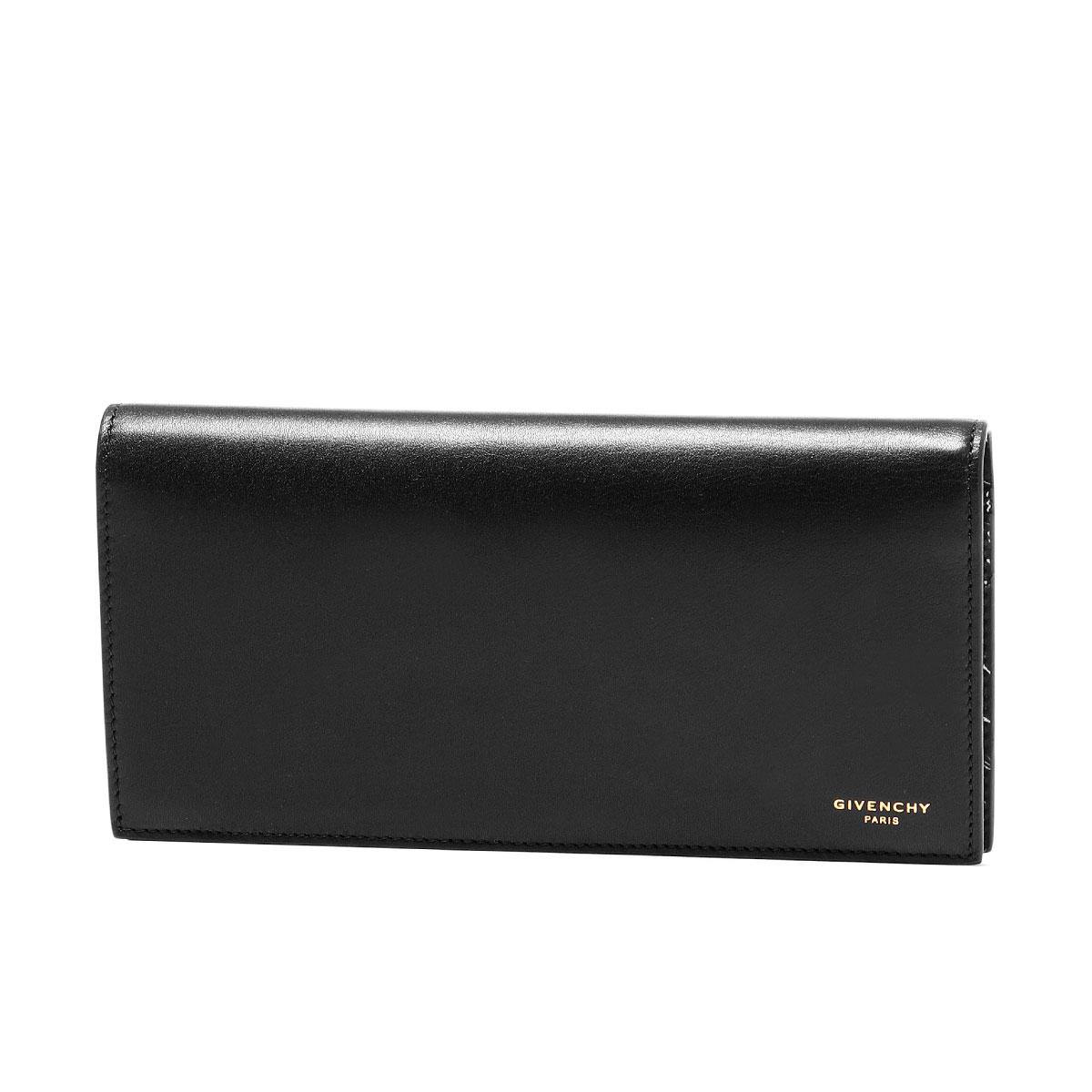 ジバンシー GIVENCHY 財布 メンズ BK6013K0AA 004 二つ折り長財布 BLACK/WHITE ブラック