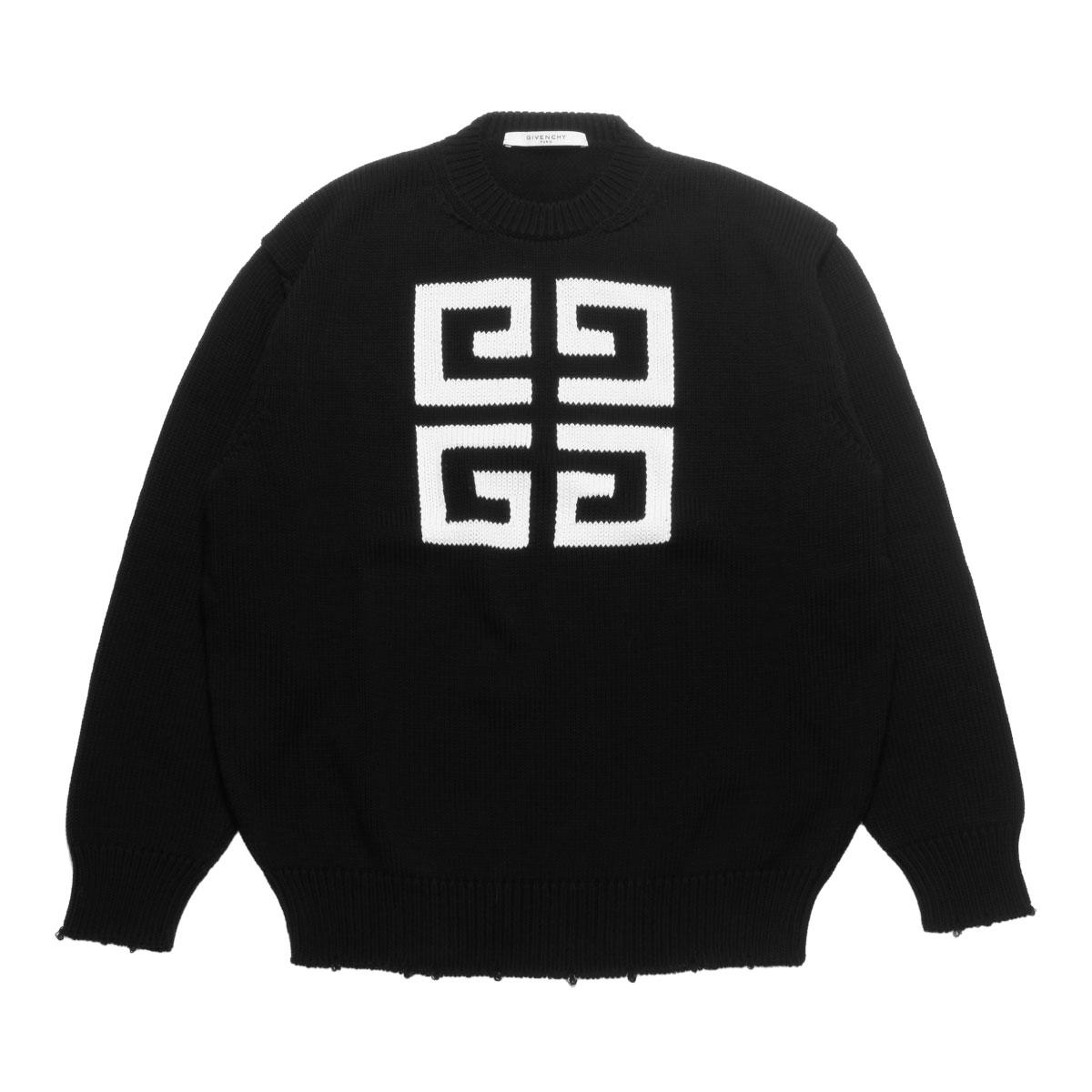 ジバンシー GIVENCHY ニット レディース BW903D4Z2E 004 長袖ニット BLACK/WHITE ブラック