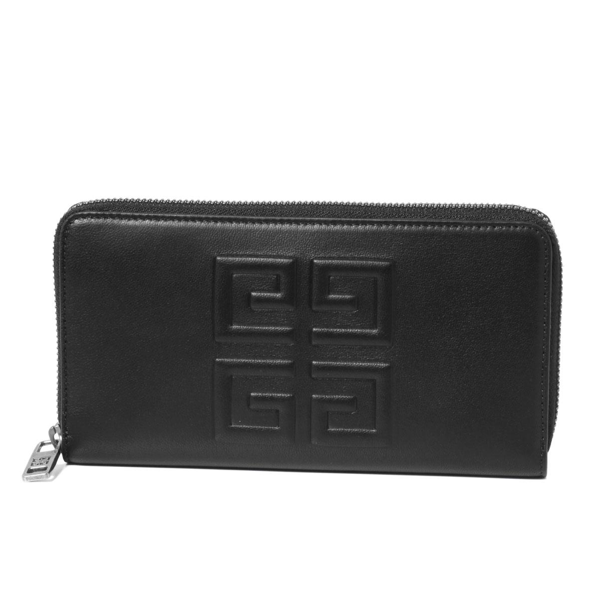 ジバンシー GIVENCHY 財布 メンズ BK600GK0BA 016 ラウンドファスナー長財布 BLACK/KHAKI ブラック