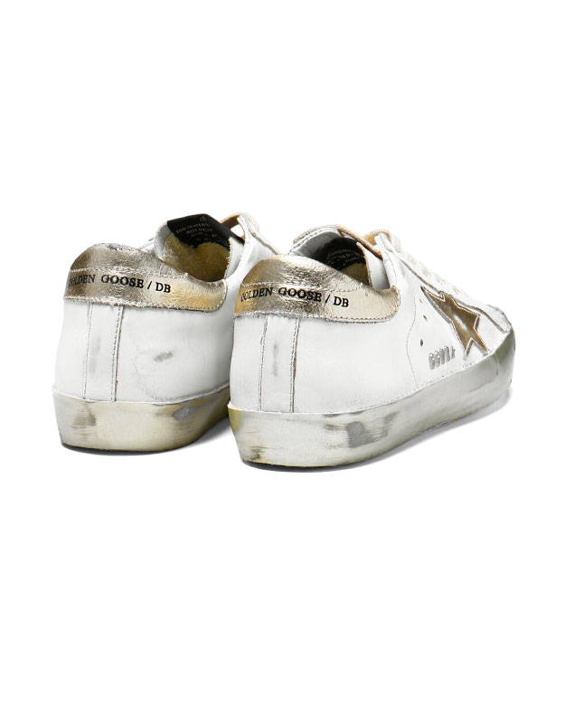 Golden goose GOLDEN GOOSE shoes Lady s G30WS590 E37 sneakers SUPER STAR superstar  WHITE GOLD STAR white   gold d3ef0bee20fa