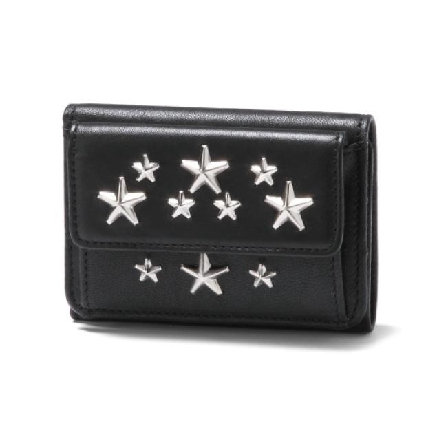 ジミー チュウ JIMMY CHOO 財布 レディース NEMO CST 三つ折り財布 スモール NEMO ネモ BLACK ブラック
