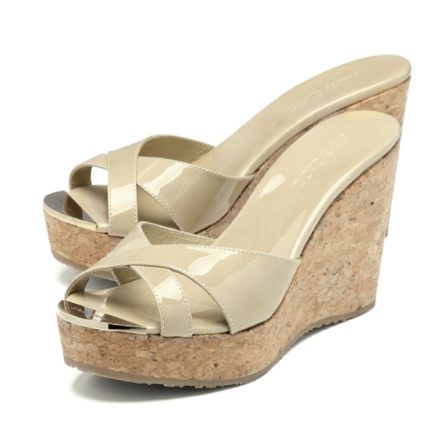 fcfdd83feb2b ジミーチュウ JIMMY CHOO shoes Lady s PANDORA PAT wedge sandals PANDORA Pandora  NUDE beige