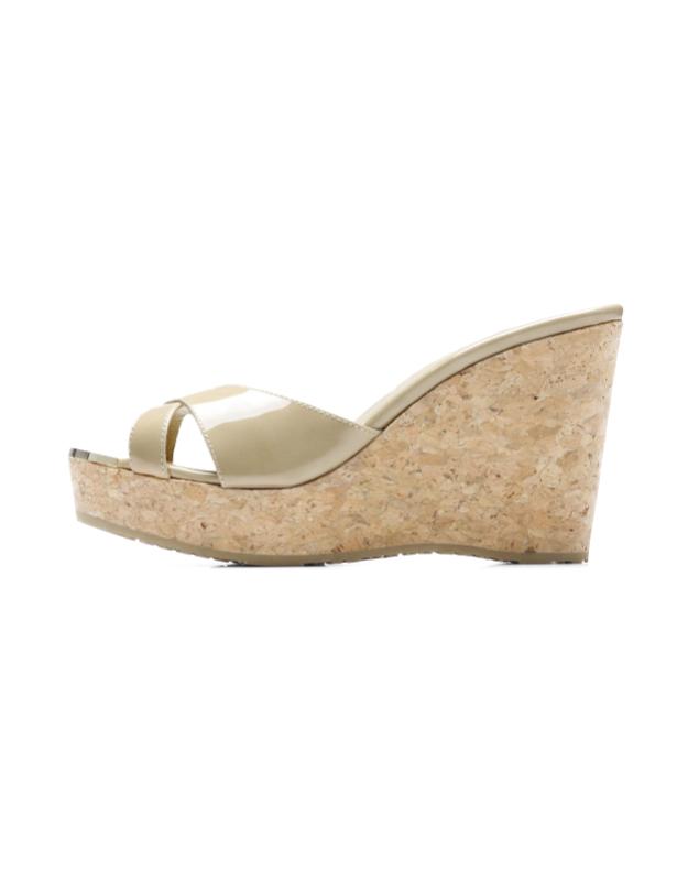 3b8f6e58fa9ee3 ジミーチュウ JIMMY CHOO shoes Lady s PANDORA PAT wedge sandals PANDORA Pandora  NUDE beige