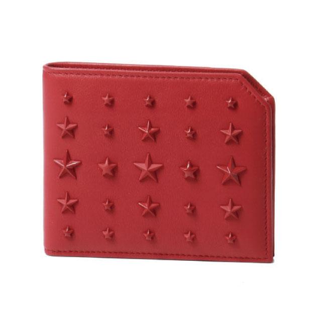 ジミー チュウ JIMMY CHOO 財布 メンズ ALBANY LXA 二つ折り財布 ALBANY アルバニー DEEP RED レッド