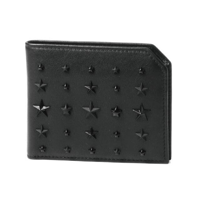ジミー チュウ JIMMY CHOO 財布 メンズ ALBANY LXA 二つ折り財布 ALBANY アルバニー BLACK ブラック