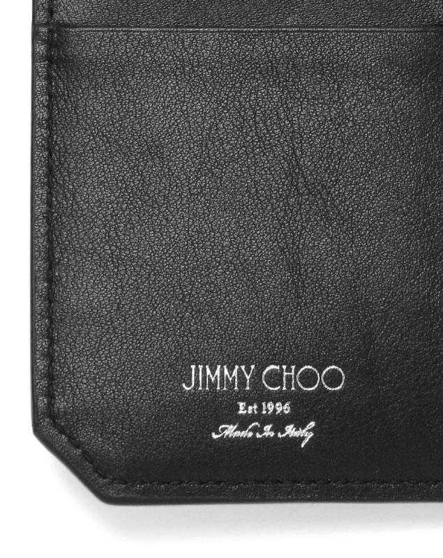 0ff5cfef ジミーチュウ JIMMY CHOO wallet men COOPER GTA folio long wallet large COOPER  Cooper GUNMETAL/SILVER GUNMETAL METALLIC MIX gray