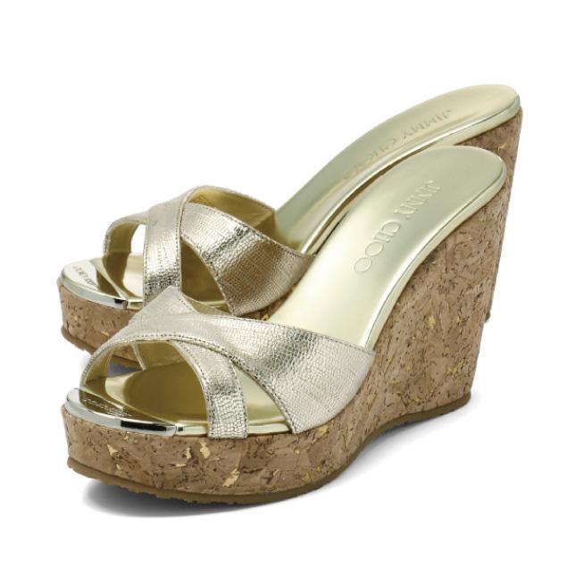 b1ad3a4469be ジミーチュウ JIMMY CHOO shoes Lady s PANDORA IMO wedge sandals PANDORA Pandora  GOLD gold